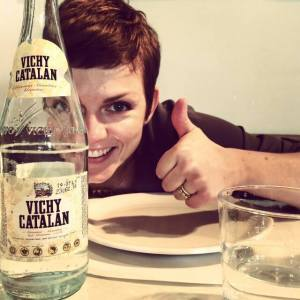 This is me, loving the Vichy Catalan