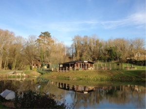 View of the lake at the fishery. Taken from www.churchpaddock.co.uk
