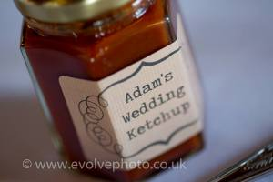 The favours at our wedding